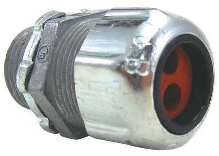 Liquid Tight Connector, 1/2in., Silver