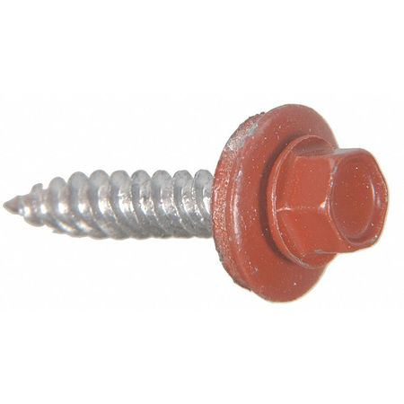 Sheeter Screw, EPDM, #10x1 1/2, Pk107