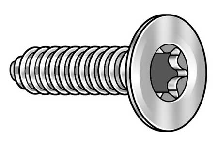 Metal Screw, #6-19, 1/4 In L, PK50