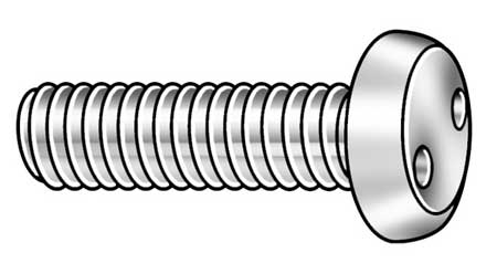 "1/4-20 x 3"" Pan Head SPan Headner Tamper Resistant Screw,  10 pk."
