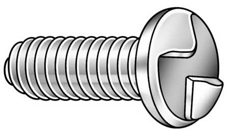 Mach Screw, Round, 8-32x1/2 L, PK100
