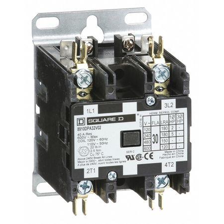 120VAC Non-Reversing Definite Purpose Contactor 2P 30A