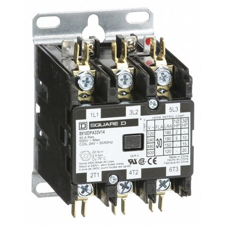24VAC Non-Reversing Definite Purpose Contactor 3P 30A
