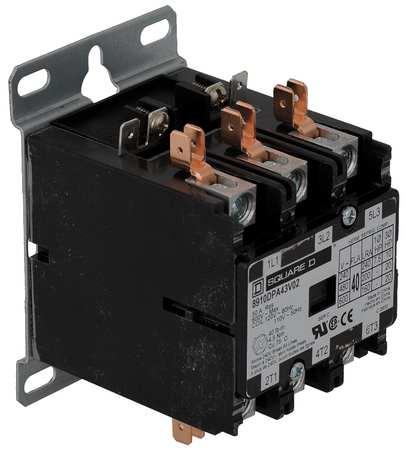 Definit Prpose Cntactr, 208/240VAC, 40A, 3P