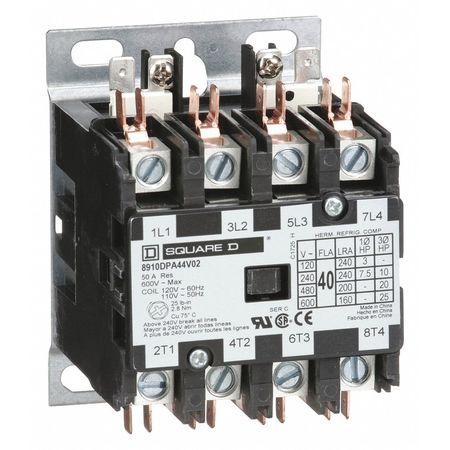 120VAC Non-Reversing Definite Purpose Contactor 4P 40A