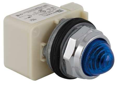 Pilot Light, LED, 120V, 30mm, Chrome, BL