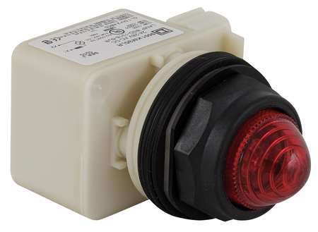 Pilot Light Complete, Red, LED