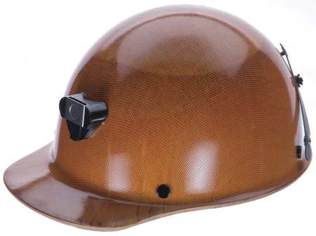Hard Hat w/ Lamp Bracket and Cord Holder