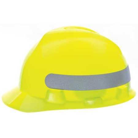 Hard Hat, FtBm, Sltd, Rcht, HVizYlw/Grn wSil