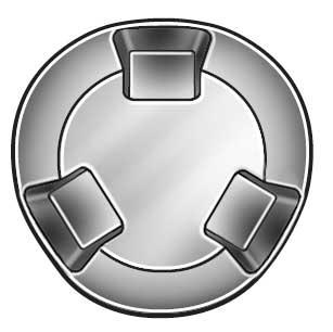 "#10-24 x 3/4"" Round Head Tri-Groove Tamper Resistant Screw,  50 pk."