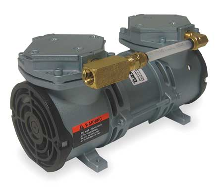 Compressor/Vacuum Pump, 1/8 HP, 60 Hz, 115V
