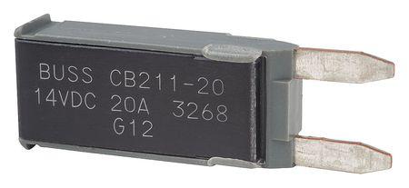 Automotive Circuit Breaker, CB211, 20A, 14V