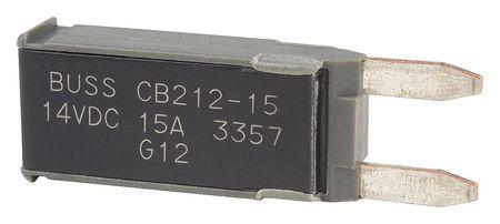 Automotive Circuit Breaker, CB212, 15A, 12V