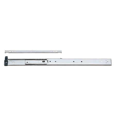 Drawer Slide, Full, Quick, 22 In. L, PR
