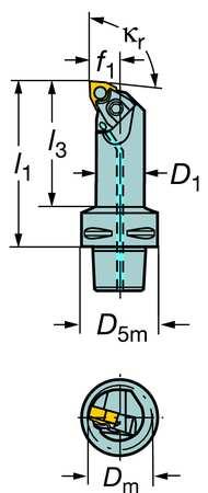 Turning Tool,  C4-MWLNL-13075-06