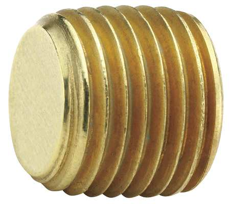 "3/8"" MNPT Brass Hex Head Plug"