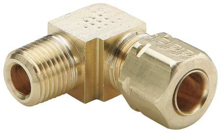 "3/8"" Compression x MNPT Low Lead Brass 90 Degree Elbow"