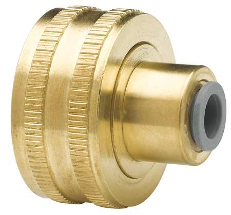 Female Hose Bib, 3/8 In, Low-Lead Brass