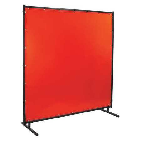 Welding Screen, 8 ft. W, 6 ft., Orange