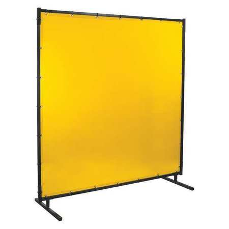 Welding Screen, 6 ft. W, 6 ft., Yellow