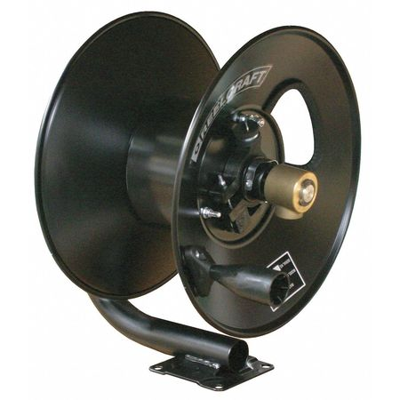 Hose Reel, Hand Crank, 3/8 In ID x 50 Ft