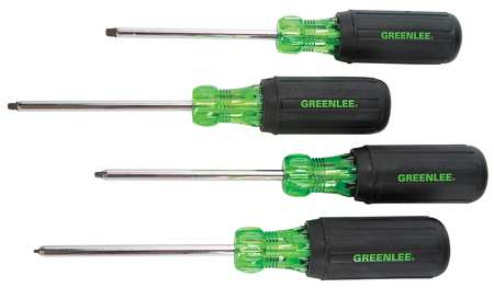 Screwdriver Set, Square, 4 Pc