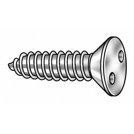Tamper Screw, Flat, #10, 1/2 L, PK25