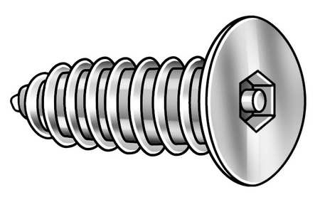 Tamper Screw, Flat, #8, 3/4 In L, PK25