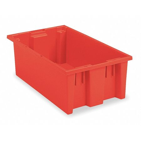 Nest and Stack Container, 19-1/2 in L, Red
