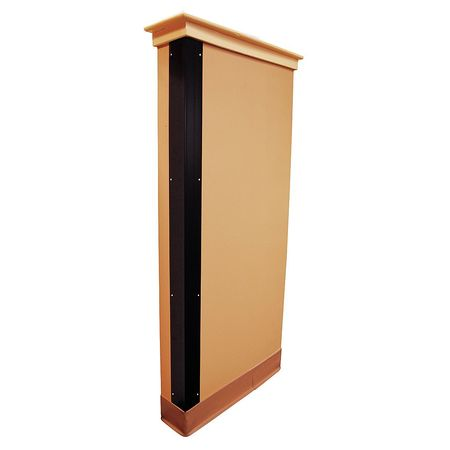 Corner Guard, Black, 1x48in, Hardware FR