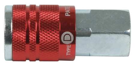 Coupler Body, (F)NPT, 1/4, Steel/Aluminum