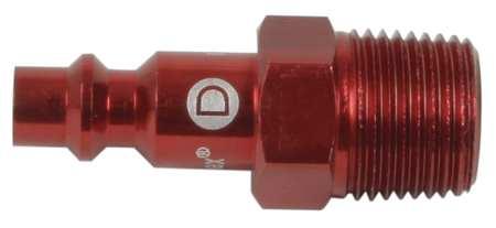 Coupler Plug, (M)NPT, 1/4, Aluminum