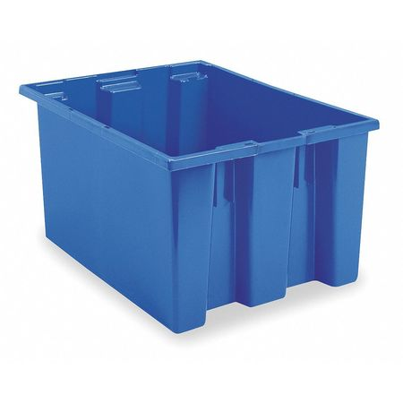 Nest and Stack Container, 23-1/2 in, Blue