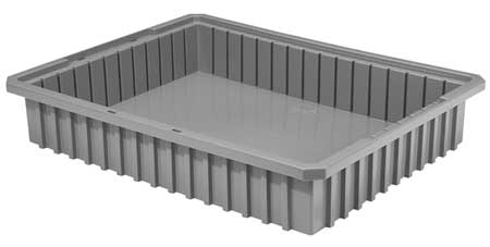 Divider Box, 22-3/8 x 17-3/8 x 4 In, Gray