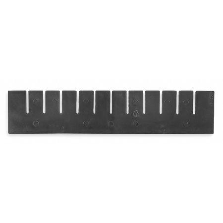 Short Divider, 15-1/2 x 5-2/5 In, Black