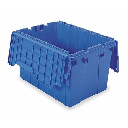 Attached Lid Container, 1.62 cu ft, Blue