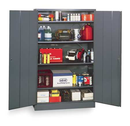 Storage Cabinet, Gray, 78 In H, 48 In W
