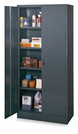 Storage Cabinet, Gray, 78 In H, 36 In W
