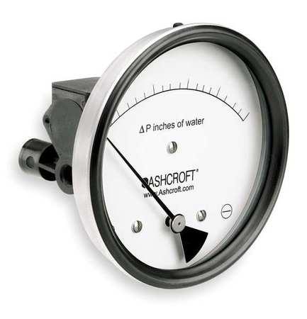 Pressure Gauge, 0 to 4 In H2O
