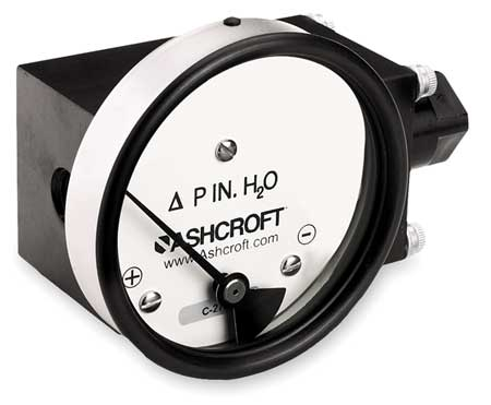 Pressure Gauge, 0 to 100 In H2O