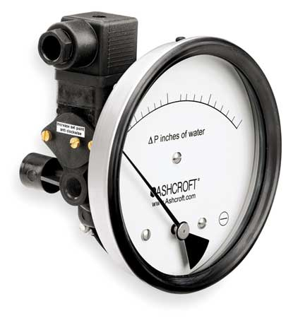 Pressure Gauge, 0 to 3 In H2O