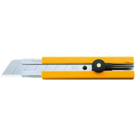 Snap-Off Knife, 6 3/4 In, Yellow