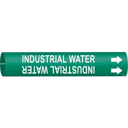 Pipe Marker, Industrial Water, Gn, 4 to6 In