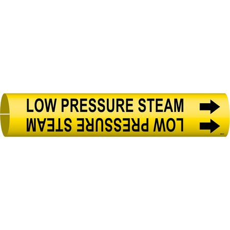 Pipe Marker, Low Pressure Steam, Y, 4to6 In