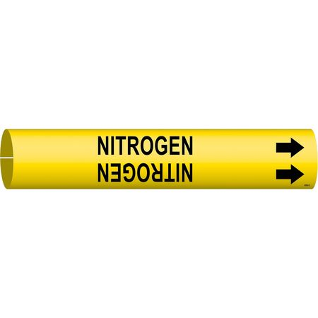Pipe Marker, Nitrogen, Yellow, 4 to 6 In