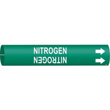 Pipe Marker, Nitrogen, Green, 4 to 6 In