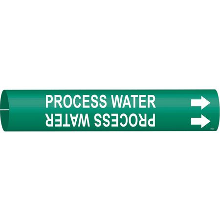 Pipe Marker, Process Water, Grn, 4 to 6 In