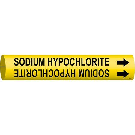 Pipe Marker, Sodium Hypochlorite, Yellow