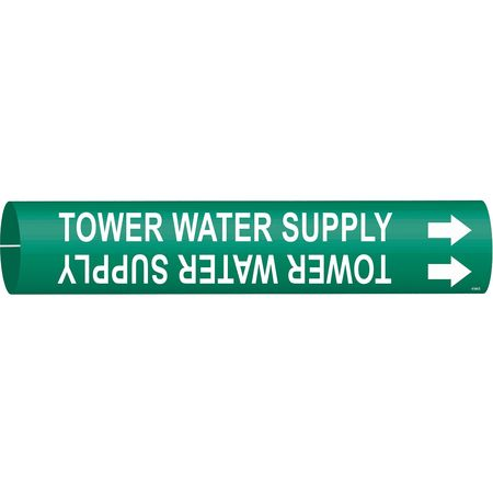 Pipe Markr, Tower Water Supply, Gn, 4to6 In
