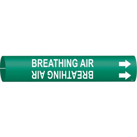 Pipe Marker, Breathing Air, Grn, 4 to 6 In